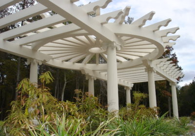 We are so Excited about our New Estate Pergola and Trellis Systems